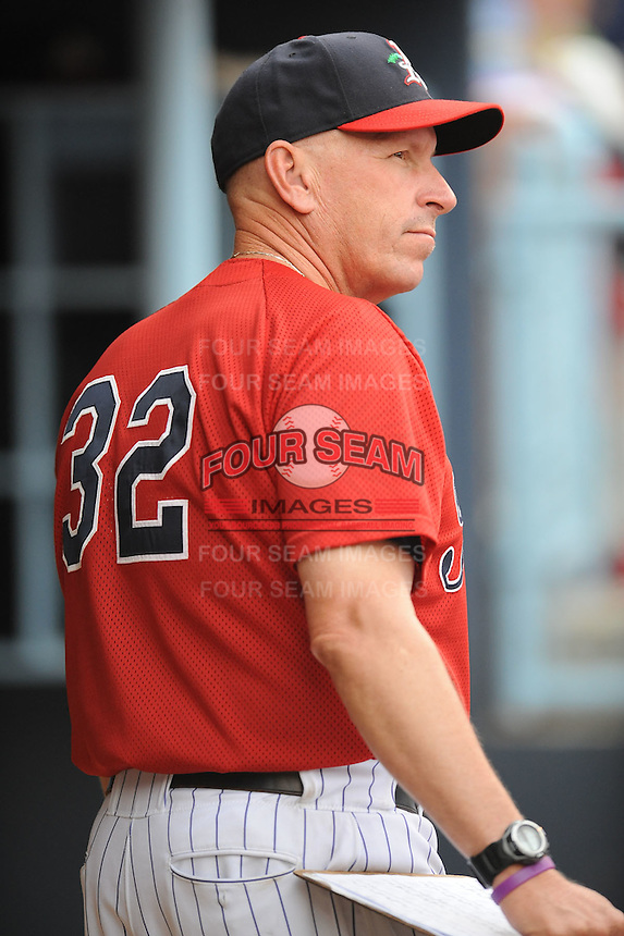 Dave Schuler #32 Pitching Coach Asheville Tourists (Rockies) May 14, 2010 Photo By Tony Farlow/Four Seam Images