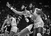 Lakers center Kareem Abdul Jabbar<br />
