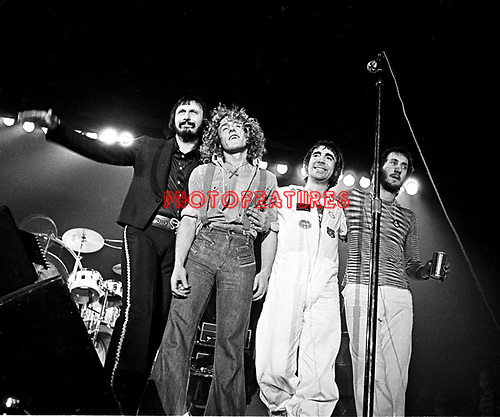 The Who 1975 John Entwistle Roger Daltrey Keith Moon and Pete Townshend<br /> &copy; Chris Walter