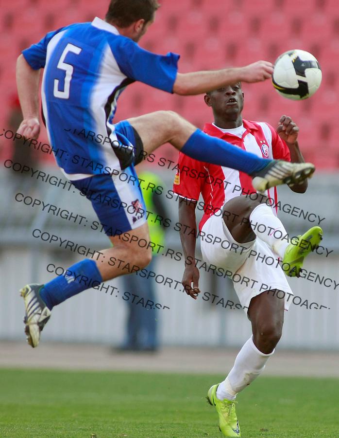 Fudbal, Jelen super liga, season 2008/09.Crvena Zvezda Vs. Banat (Zrenjanin).Awal Issah, right and Ivica Milutinovic.Beograd, 11.04.2009..Photo: © Srdjan Stevanovic/Starsportphoto.com