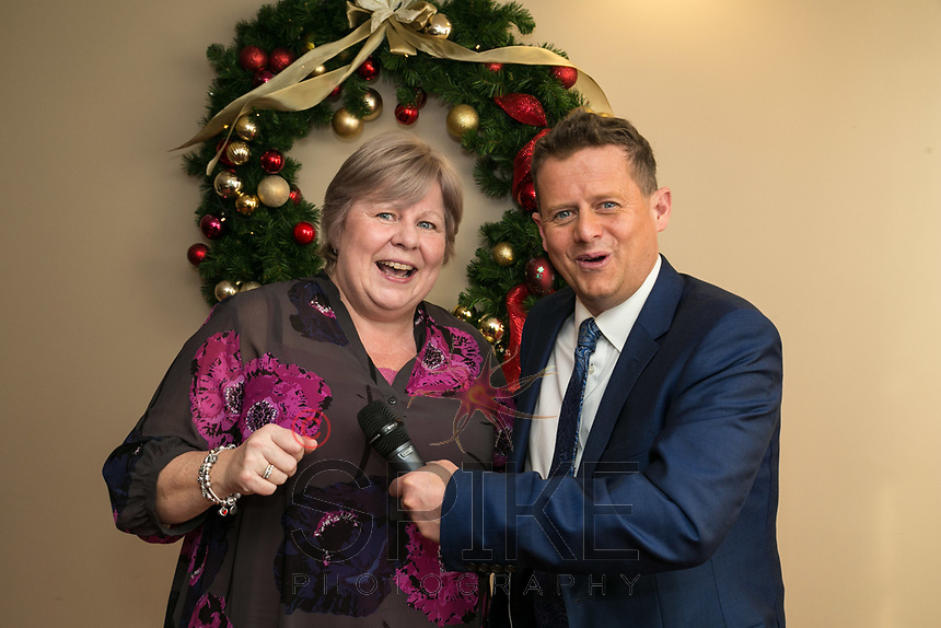 Trisha Hennesey of Park Plaza Hotel has a laugh with Guest Speaker Mike Bushell of the BBC