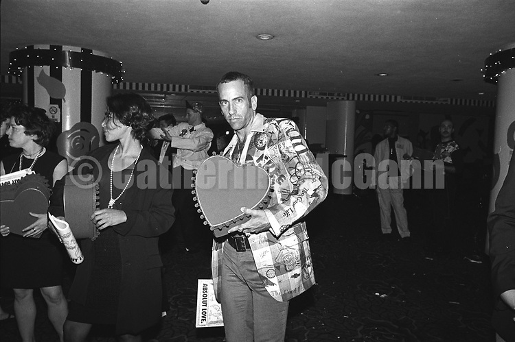 May 22, 1991: Artist Kenny Scharf poses for a photo at the Love Ball on May 22, 1991 in New York City, New York.