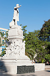 Havana, Cuba; a statue to Jose Marti stands in the middle of Parque Central