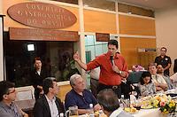 ATENCAO EDITOR: FOTO EMBARGADA PARA VEICULOS INTERNACIONAIS. SAO PAULO, 20 DE OUTUBRO DE 2012 - ELEICOES 2012 HADDAD - Candidato Fernando Haddad durante cafe da manha co empresarios do ramo gastronomico e turistico da regiao central de Sao Paulo, no predio do Instituto Tecnologico de Gastronomia e nutricao do Brasil, na manha deste sabado, 20, no Arouche, centro da capital. FOTO: ALEXANDRE MOREIRA - BRAZIL PHOTO PRESS