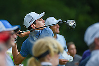 Joaquin Niemann (CHL) watches his tee shot on 3 during round 4 of the 2019 Charles Schwab Challenge, Colonial Country Club, Ft. Worth, Texas,  USA. 5/26/2019.<br /> Picture: Golffile | Ken Murray<br /> <br /> All photo usage must carry mandatory copyright credit (© Golffile | Ken Murray)