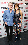 """Byron Jennings and Carolyn McCormick during the Off-Broadway Opening Night performance party for """"Plenty""""  at the Public Theatre on October 20, 2016 in New York City."""