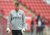 Fleetwood Town Goalkeeping Coach David Lucas during the pre-match warm-up <br /> <br /> Photographer Kevin Barnes/CameraSport<br /> <br /> The EFL Sky Bet Championship - Fleetwood Town v AFC Wimbledon - Saturday 10th August 2019 - Highbury Stadium - Fleetwood<br /> <br /> World Copyright © 2019 CameraSport. All rights reserved. 43 Linden Ave. Countesthorpe. Leicester. England. LE8 5PG - Tel: +44 (0) 116 277 4147 - admin@camerasport.com - www.camerasport.com