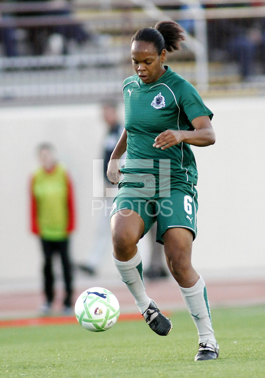 Kia McNeil. Saint Louis Athletica were defeated 1-0 by Chicago Red Stars in which was both teams inaugural game, played at Korte Stadium, Edwardsville, Illinois on April 4, 2009.