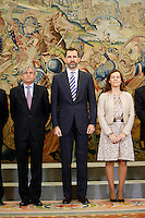 Prince Felipe of Spain Attend Audiences