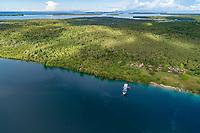 Luftaufnahme von Mbanika Island oder Banika Island, Salomonen, Salomonensee / Aerial View of Mbanika or Banika Island, Solomon Islands, Solomonen Sea