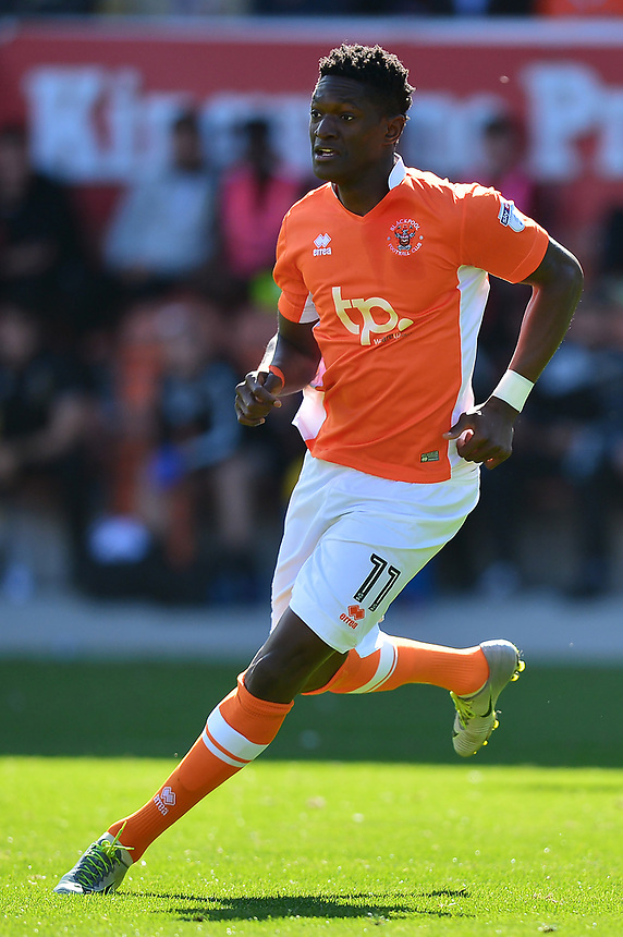 Blackpool's Armand Gnanduillet in action<br /> <br /> Photographer Richard Martin-Roberts/CameraSport<br /> <br /> The EFL Sky Bet League One - Blackpool v Milton Keynes Dons - Saturday August 12th 2017 - Bloomfield Road - Blackpool<br /> <br /> World Copyright &copy; 2017 CameraSport. All rights reserved. 43 Linden Ave. Countesthorpe. Leicester. England. LE8 5PG - Tel: +44 (0) 116 277 4147 - admin@camerasport.com - www.camerasport.com