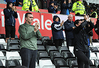 Preston North End fans applaud their team at the final whistle <br /> <br /> Photographer Kevin Barnes/CameraSport<br /> <br /> The EFL Sky Bet Championship - Swansea City v Preston North End - Saturday August 11th 2018 - Liberty Stadium - Swansea<br /> <br /> World Copyright &copy; 2018 CameraSport. All rights reserved. 43 Linden Ave. Countesthorpe. Leicester. England. LE8 5PG - Tel: +44 (0) 116 277 4147 - admin@camerasport.com - www.camerasport.com