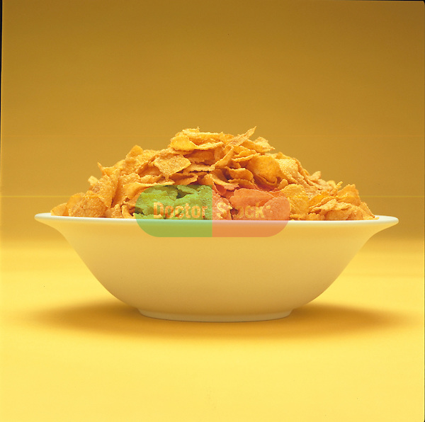 bowl of cornflake cereal