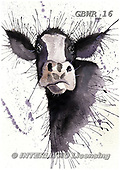 Simon, REALISTIC ANIMALS, REALISTISCHE TIERE, ANIMALES REALISTICOS, paintings+++++KatherineW_SplatterCow,GBWR16,#a#, EVERYDAY