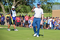 Brandon Grace (RSA) after sinking his putt on 18 during round 4 of the Valero Texas Open, AT&amp;T Oaks Course, TPC San Antonio, San Antonio, Texas, USA. 4/23/2017.<br /> Picture: Golffile | Ken Murray<br /> <br /> <br /> All photo usage must carry mandatory copyright credit (&copy; Golffile | Ken Murray)