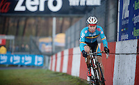 race leader Laurens Sweeck (BEL/Corendon-Kwadro)<br /> <br /> Zolder CX UCI World Cup 2014