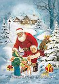 Interlitho, Patricia, CHRISTMAS SANTA, SNOWMAN, nostalgic, paintings, santa, boy, deer(KL5652,#X#) Weihnachten, nostalgisch, Navidad, nostálgico, illustrations, pinturas