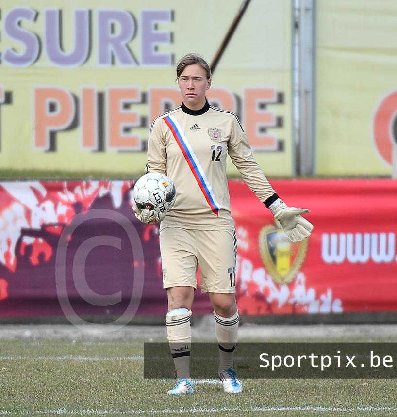 Switzerland U19 - Russia U19 : Russian goalkeeper Viktoria Nosenko (GK).foto DAVID CATRY / Nikonpro.be