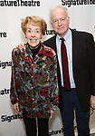 Georgia Engel and Reed Birney attends the Off-Broadway Opening Night of the Signature Theatre's 'Thom Pain' at the Signature Theatre on November 11, 2018 in New York City.