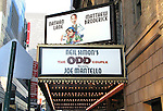 Nathan Lane and Matthew Broderick starring in a revival of the Neil Simon Comedy THE ODD COUPLE.directed by Joe Mantello at the Brooks Atkinson Theatre in New York City..( Opening Night Theatre Marquee ).September 13, 2005.© Walter McBride /  .