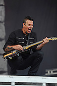 DISTURBED - guitarist Dan Donegan - performing live on Day Three on the Lemmy Stage at Download Festival at Donington Park UK - 12 Jun 2016.  Photo credit: Zaine Lewis/IconicPix