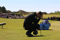 Matt Wallace (ENG) after missing his putt to win on the 18th green during Round 4 of the Betfred British Masters 2019 at Hillside Golf Club, Southport, Lancashire, England. 12/05/19<br /> <br /> Picture: Thos Caffrey / Golffile<br /> <br /> All photos usage must carry mandatory copyright credit (© Golffile | Thos Caffrey)
