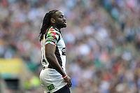 Paul Sackey looks on during a break in play. Aviva Premiership Double Header match, between London Wasps and Harlequins on September 7, 2013 at Twickenham Stadium in London, England. Photo by: Patrick Khachfe / Onside Images