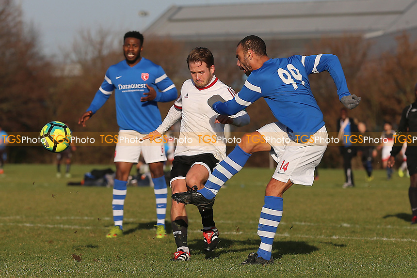 Highfield (blue/white) vs FC Stepney, Hackney & Leyton Sunday League Football at Hackney Marshes on 11th December 2016