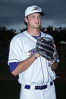 Winston-Salem Dash pitcher Spencer Adams (13) poses for a photo prior to the game against the Myrtle Beach Pelicans at BB&T Ballpark on August 18, 2015 in Winston-Salem, North Carolina.  The game was rained out.  (Brian Westerholt/Four Seam Images)