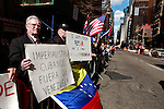 NEWS-Venezuelan nationals holds a rally in New York