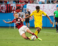 Charlotte, North Carolina - August 2, 2014: Liverpool FC defeated AC Milan 2-0 in a Guinness International Championship Cup match at Bank of America Stadium.