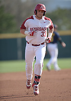 NWA Democrat-Gazette/ANDY SHUPE<br />Arkansas catcher Grant Koch rounds the bases after hitting a 2-run home run against Kent State Friday, March 9, 2018, during the second inning at Baum Stadium in Fayetteville. Visit nwadg.com/photos to see more photographs from the game.