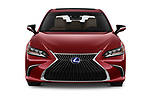 Car photography straight front view of a 2019 Lexus ES 300h-Privilege-Line 4 Door Sedan Front View