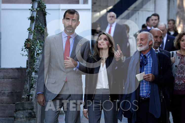 Prince Felipe of Spain (1L) and Princess Letizia of Spain visit the northern village of Teverga during the celebration of the 2013 Prince of Asturias Awards in Teverga, Spain. Teverga received the honorary mention of Exemplary Village in 2013. October 26, 2013..(ALTERPHOTOS/Victor Blanco)