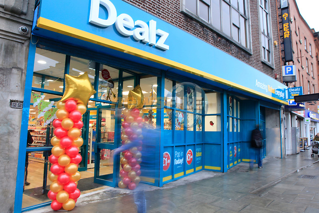 Staff and Management at the opening of the Dealz new store in Thomas Street, Dublin.<br /> <br /> Picture Newsfile/Professional Images