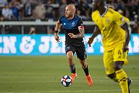 San Jose, CA - Saturday August 03, 2019: Magnus Eriksson #7 in a Major League Soccer (MLS) match between the San Jose Earthquakes and the Columbus Crew at Avaya Stadium.