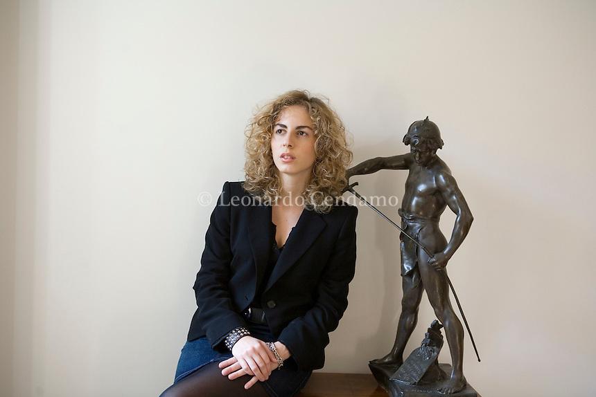Rome, Italy, 2007. Giulia Carcasi, Italian writer.