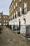 Cannonbury Square London N1. Typical Georgian terrace houses. UK 2008.