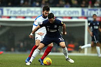 Stephen McLaughlin of Southend United and Ben Close of Portsmouth during Southend United vs Portsmouth, Sky Bet EFL League 1 Football at Roots Hall on 16th February 2019