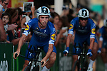 James Knox (GBR) and Deceuninck-Quick Step in action during Stage 1 of La Vuelta 2019, a team time trial running 13.4km from Salinas de Torrevieja to Torrevieja, Spain. 24th August 2019.<br /> Picture: Colin Flockton | Cyclefile<br /> <br /> All photos usage must carry mandatory copyright credit (© Cyclefile | Colin Flockton)