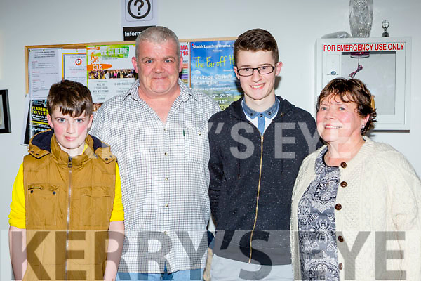 Three generations Oran, Con Keenan and Eileen Daly at the Handed Down concert in the Scartaglen Heritage Centre on Saturday night
