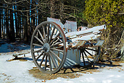 U.S. 3 Inch Field Gun Model 1905.  N2 3182 .This gun was manufacted by Rock Island Arsenal and is located in the historical district of Newington, New Hampshire, USA next to the oldest town forest in the United States. The 1905 is a model of the 1902