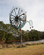 A whirligig created by Vollis Simpson, a renowned outsider artist, Lucama, N.C., Jan. 26, 2013.