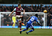 John Terry of Aston Villa wins the ball against Jeremie Boga of Birmingham City <br /> <br /> Photographer Leila Coker/CameraSport<br /> <br /> The EFL Sky Bet Championship - Aston Villa v Birmingham City - Sunday 11th February 2018 - Villa Park - Birmingham<br /> <br /> World Copyright &copy; 2018 CameraSport. All rights reserved. 43 Linden Ave. Countesthorpe. Leicester. England. LE8 5PG - Tel: +44 (0) 116 277 4147 - admin@camerasport.com - www.camerasport.com