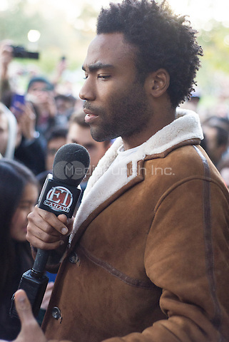 TORONTO, ON - OCTOBER 28: Childish Gambino / Donald Glover at the Because The Internet listening party at Trinity Bellwoods Park in Toronto.  October 28, 2013. Photo by Delaney/RTN/MediaPunch Inc.