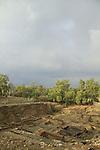 Israel, Coastal Plain, archaeological excavations in Ashkelon