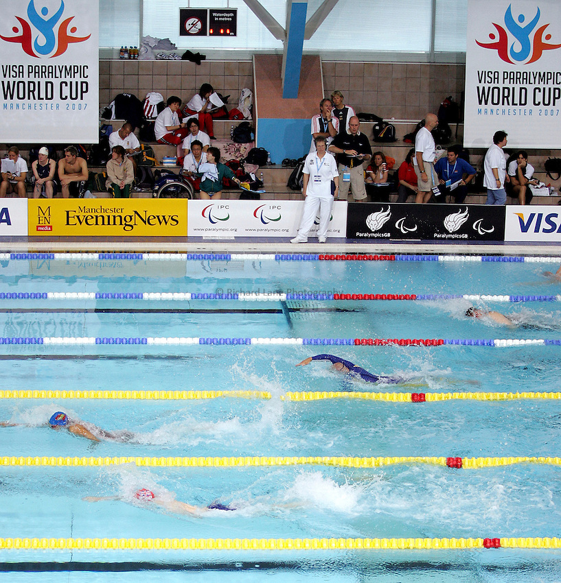 Photo: Paul Thomas..VISA Paralympic World Cup 2007. Swimming. 12/05/2007...VISA Paralympic World Cup 2007 Swimming, Manchester Aquatics Centre.