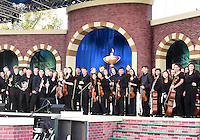 27 SEP 12  The formal orchestra convenes on stage at the conclusion of Thursdays Opening ceremonies at The 39th Ryder Cup at The Medinah Country Club in Medinah, Illinois.