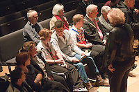 """Special guest, actor, John Altman, """"Nasty Nick """" from TV's """"East Enders"""", chatting to one of the Special Olympics athletes.   Special Olympics Surrey put on a show,   """"Beyond the Stars"""", at the Rose Theatre, Kingston upon Thames to raise money for the  SOGB team.  The Special Olympics are for athletes with learning disabilities."""