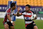 Siale Piutau looks to fend off Nafi Tuitavake. Air New Zealand Cup rugby game between Counties Manukau Steelers & North Harbour, played at Mt Smart Stadium on Saturday 4th of  October 2008. After being tied up 14 all at halftime North Harbour went on to win 57 - 28.